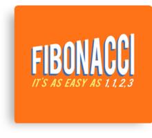 Fibonacci It's as Easy as 1, 1, 2, 3 Canvas Print