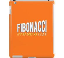 Fibonacci It's as Easy as 1, 1, 2, 3 iPad Case/Skin