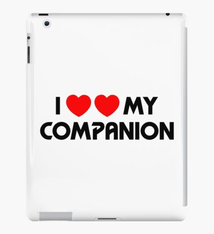 I Two-Heart My Companion Design (White) iPad Case/Skin