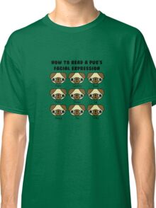 The many facial expressions of a pug Classic T-Shirt