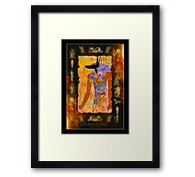 """The Anubis Parchment"" Framed Print"