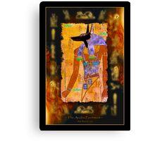 """""""The Anubis Parchment"""" Canvas Print"""