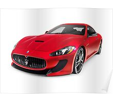 2015 Maserati GranTurismo MC Centennial Edition luxury car art photo print Poster