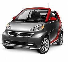 Smart Fortwo Electric Drive Cabriolet electric car art photo print by ArtNudePhotos