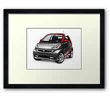 Smart Fortwo Electric Drive Cabriolet electric car art photo print Framed Print