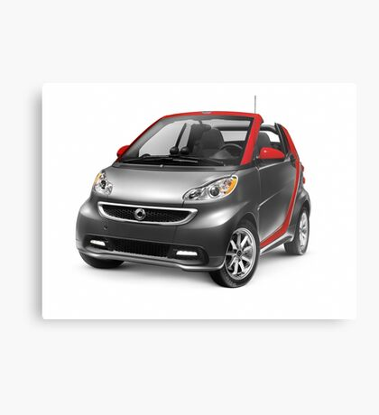 Smart Fortwo Electric Drive Cabriolet electric car art photo print Metal Print