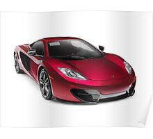 McLAREN 12C Coupe sports car art photo print Poster