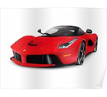 Ferrari F150 LaFerrari supercar sports car art photo print Poster