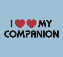 I Two-Heart My Companion Design (White) Baby Tee