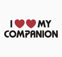 I Two-Heart My Companion Design (White) Kids Clothes