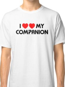 I Two-Heart My Companion Design (White) Classic T-Shirt