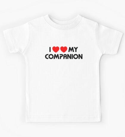 I Two-Heart My Companion Design (White) Kids Tee