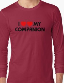 I Two-Heart My Companion Design (White) Long Sleeve T-Shirt