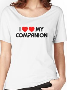 I Two-Heart My Companion Design (White) Women's Relaxed Fit T-Shirt