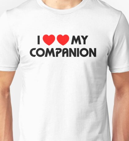 I Two-Heart My Companion Design (White) Unisex T-Shirt