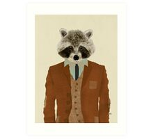 mr raccoon Art Print