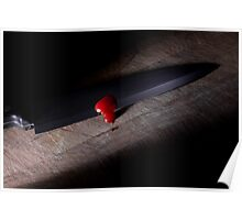 Sharp Knife with Blood Poster
