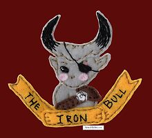 Dragon Age Inquisition chibi Iron Bull felt embroidery by dubukat