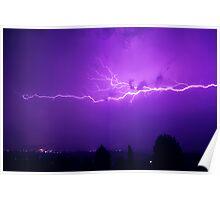 Melbourne Thunderstorm Poster