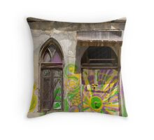 window and door Throw Pillow