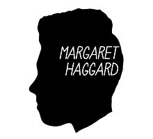 Margaret Haggard Logo - Black Photographic Print