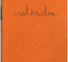 Vintage book cover with illustration of a mosque by Colorello
