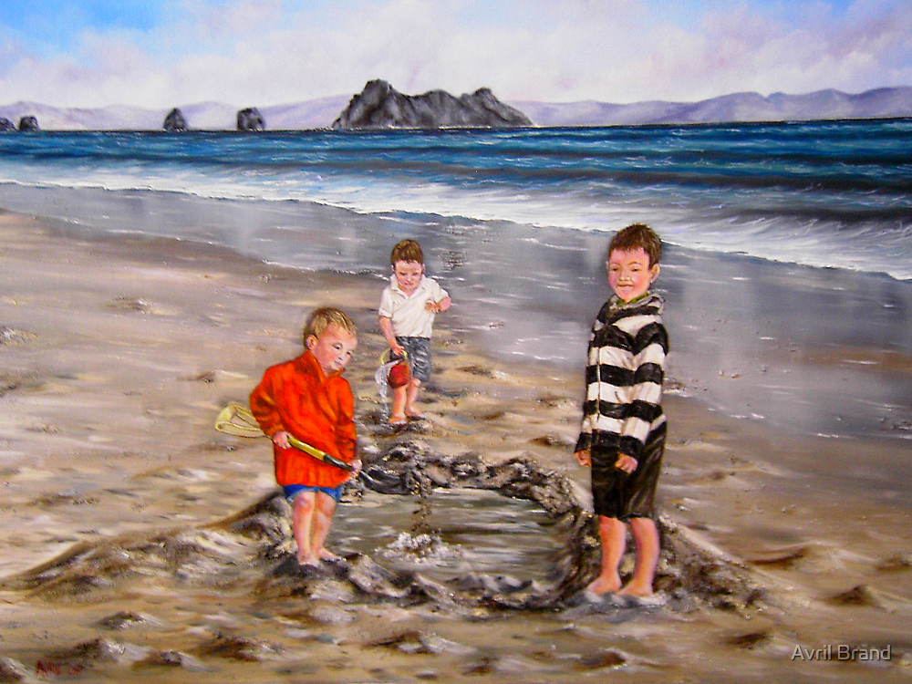 """""""Boys just want to have fun"""" - Oil Painting by Avril Brand"""