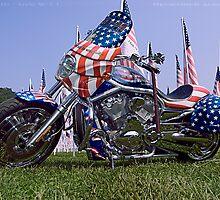 9/11 Tribute Harley Davidson by GeeNiusPix