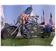 9/11 Tribute Harley Davidson Poster
