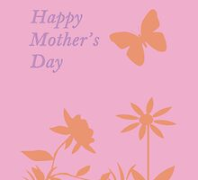 Mother's Day Pastel Nature Silhouette by CreativeEm