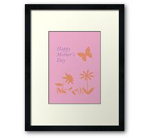 Mother's Day Pastel Nature Silhouette Framed Print