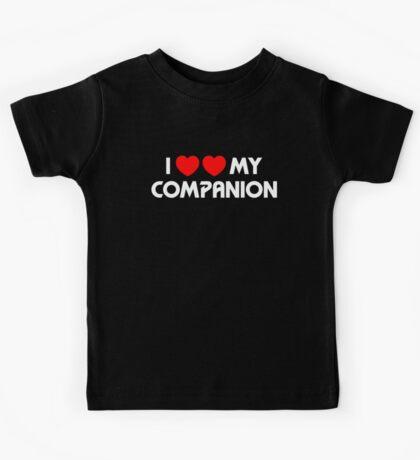 I Two-Heart My Companion Design (Black) Kids Tee