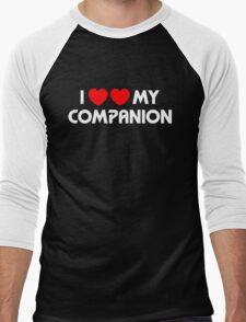 I Two-Heart My Companion Design (Black) Men's Baseball ¾ T-Shirt