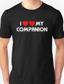 I Two-Heart My Companion Design (Black) Unisex T-Shirt