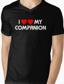 I Two-Heart My Companion Design (Black) Mens V-Neck T-Shirt