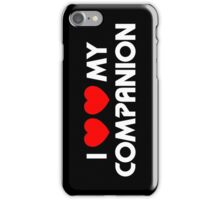 I Two-Heart My Companion Design (Black) iPhone Case/Skin