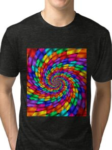 Psychedelic Ribbons Tri-blend T-Shirt