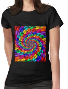 Psychedelic Ribbons Womens Fitted T-Shirt