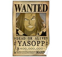 Wanted Yasopp - One Piece Poster