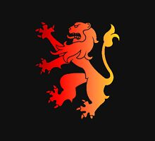 Rampant Lion Red-Orange Womens Fitted T-Shirt