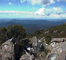 Northeast Tasmania from Mt Arthur by Christine Beswick