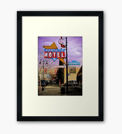 santa fe motel 2 Framed Print