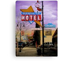 santa fe motel 2 Canvas Print