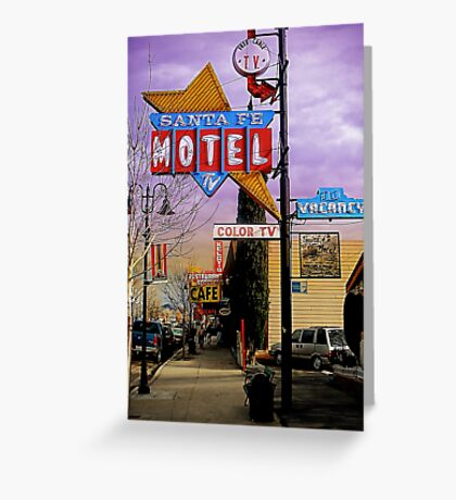 santa fe motel 2 Greeting Card