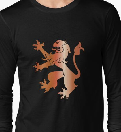 Rampant Lion Copper Long Sleeve T-Shirt