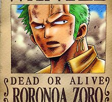 Wanted Zoro - One Piece by Amynovic