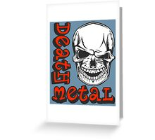 DEATH METAL Greeting Card