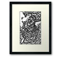 Black swirl art Vector Image Framed Print