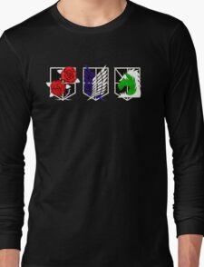 Attack on Titan Emblems Long Sleeve T-Shirt