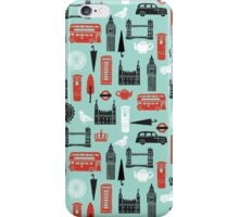 London Block Print by Andrea Lauren iPhone Case/Skin